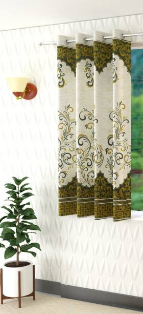 Panipat Textile Hub 153 cm (5 ft) Polyester Window Curtain Single Curtain