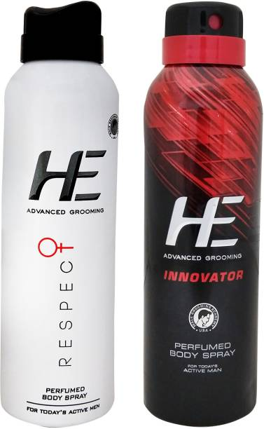 HE Advanced Grooming Respect and Innovator Perfume Body Spray  -  For Men