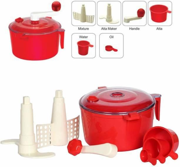 MEZIRE Dough Maker Machine with Free Measuring Cups (Aata Maker) Plastic Detachable Dough Maker