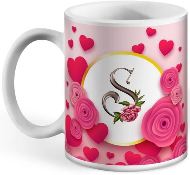 Wagwan Letter S Alphabet Best Gift for Boy Friend Special Birthday Gift For Girlfriend619 Ceramic Coffee Mug