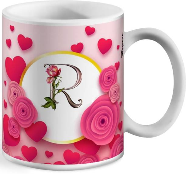 Wagwan Letter R Alphabet Best Gift for Boy Friend Special Birthday Gift For Girlfriend618 Ceramic Coffee Mug
