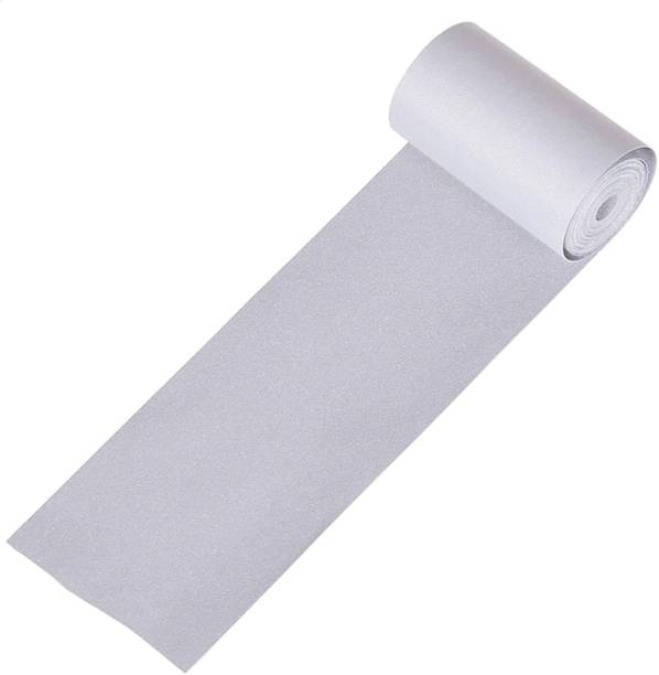 lifekrafts Polyester Sew on Reflective Non-Adhesive High Visibility DIY Safety Fabric (1 m, 50 mm, Silver) 50 mm x 1 m Silver Reflective Tape