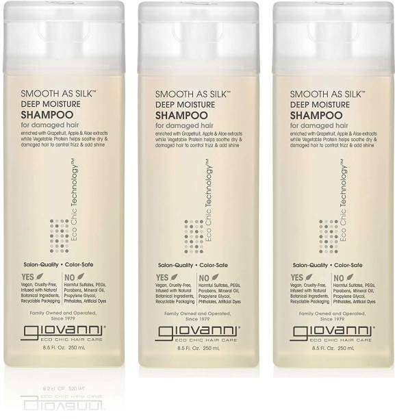 Giovanni Smooth as Silk Shampoo Packaging May Vary 8.5-Ounce Bottles (Pack of 3)