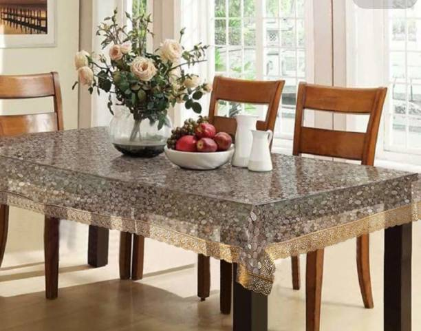 Vrinda crafts Self Design 6 Seater Table Cover