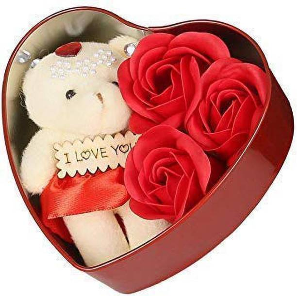 Bond and emotion Showpiece, Soft Toy, Artificial Flower Gift Set