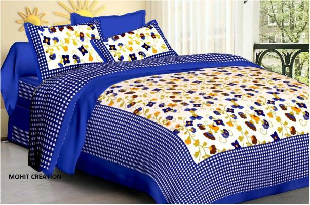 MAGITEXT 235 TC Cotton, Cotton Double Printed Bedsheet
