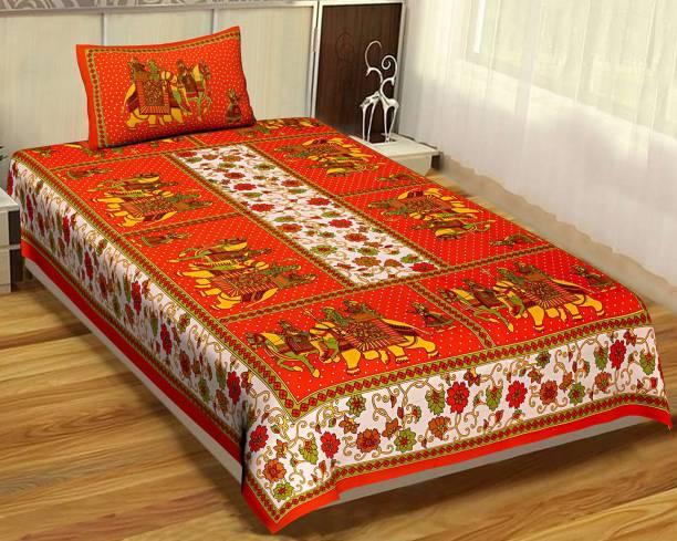 Rangun 144 TC Cotton Single Printed Bedsheet