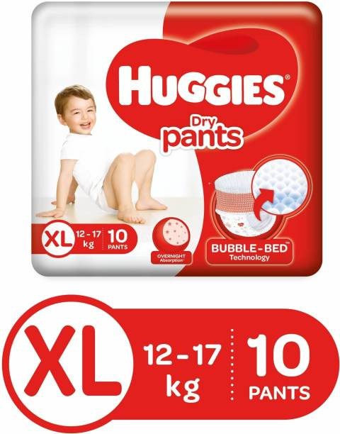 Huggies Dry Pants with Bubble Bed Technology - XL