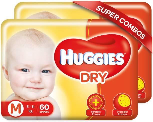 Huggies New Dry Tape Diapers -Combo Pack - M