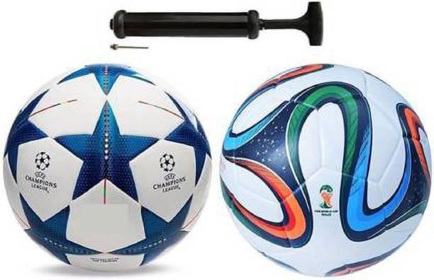 RAHICO CLUB COMBO BLUE STAR+FOUR COLOR FOOTBALL WITH AIR PUMP Football Kit
