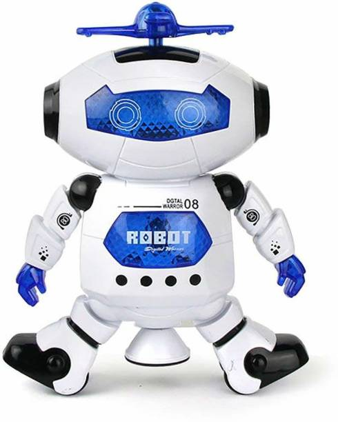 YATRI Naughty Dancing Robot with Swinging Arms and Head, Multi Color
