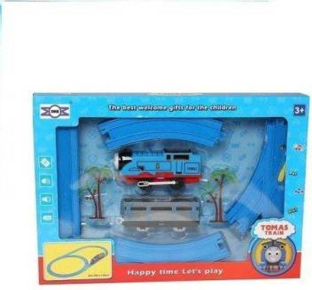 AV INT Tomas & Friends Battery Operated Train Track Toy Set with Sound and Flashing Headlights (Multicolor)