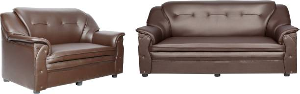 Sekar Lifestyle Home & Office Series Leatherette 3 + 2 Brown Sofa Set