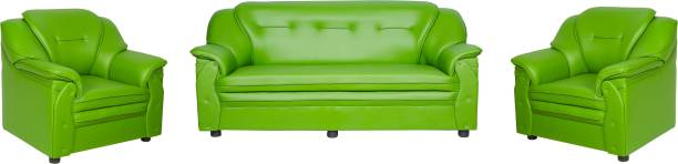 Sekar Lifestyle Home & Office Series Leatherette 3 + 1 + 1 Green Sofa Set
