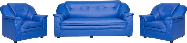 Sekar Lifestyle Home & Office Series Leatherette 3 + 1 + 1 Blue Sofa Set