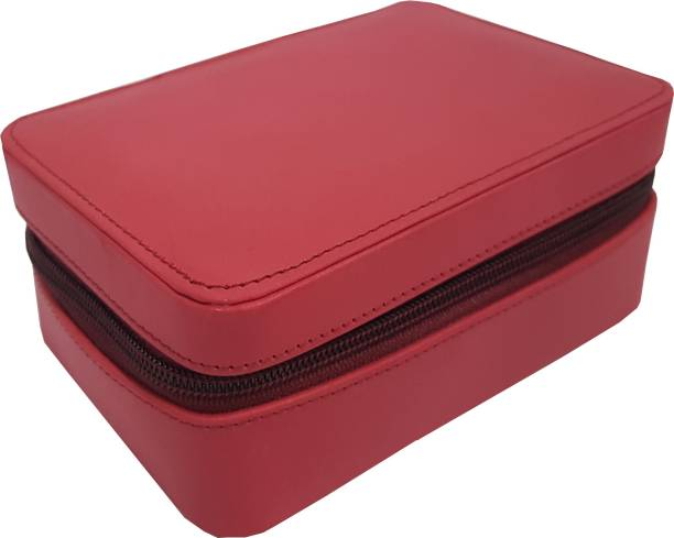 Essart Faux Leather suede finish 15cm x10xm x 6.50cm long rectangular shaped vanity    Jewellery    Earring Box with zipp closure - 1614-Red Makeup and Jewelry Vanity Box Earring Box, Jewelry Box, Multi Mini Jewelry Box, Vanity Box Vanity Box