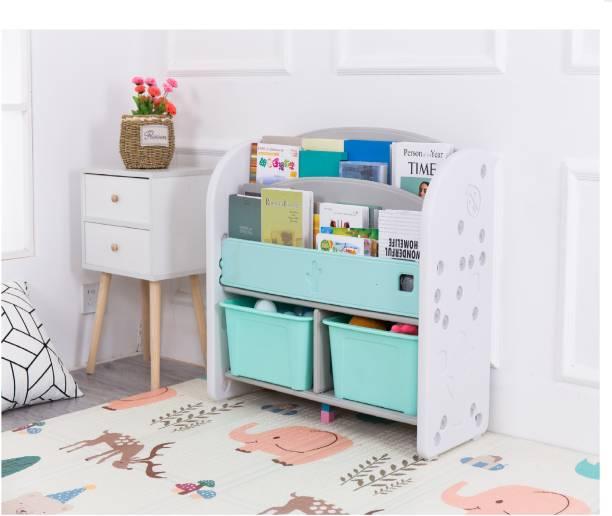The Tickle Toe The Tickle Toe DIY Kids Child Bookshelf Toy Storage Baskets Bins Rack Kindergarten Blue Plastic Shelf Cabinet bookcases Furniture (Color: Turquoise Size : 80x34x35cm) Plastic Open Book Shelf