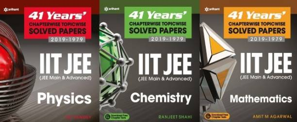 41 Years' Chapterwise Topicwise Solved Papers 2019 - 1979 IIT JEE (JEE Main & Advanced) Physics, Chemistry, Mathematics