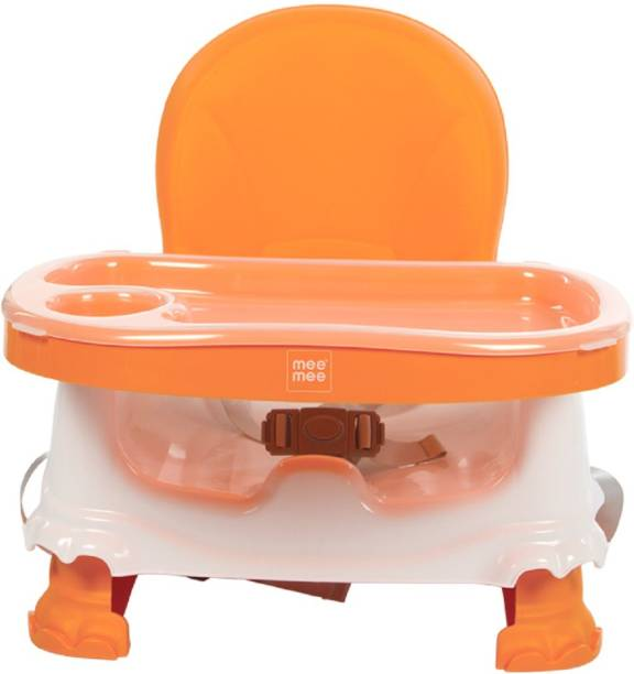 MeeMee Foldable Booster Seat with Feeding Tray (Orange)