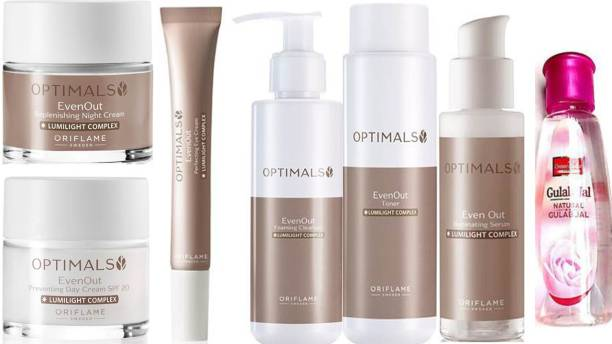 Oriflame Sweden Optimals Even Out 6 itms in SET & natural gulab jal