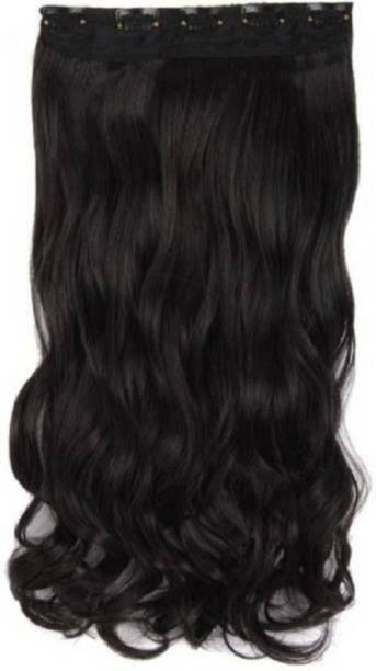 Styllofy  Extension_23 Inch Brown Wavy Hair Extension