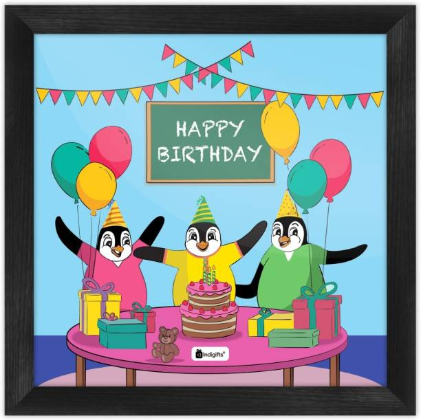 Birthday Gift for kids, Cartoon Poster Frame, Wall Hanging, Gift for Grandchild_S-PSFSWBK01SQ10-BDY19001 Paper Print