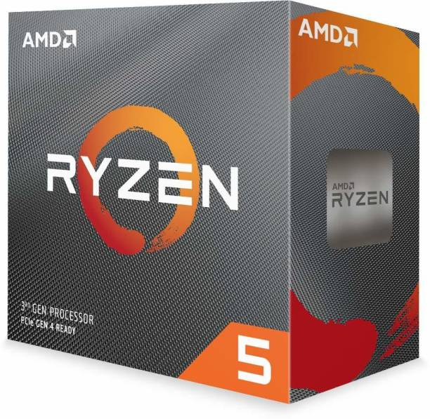 amd Ryzen 5 3600 with Wraith Stealth Cooler (100-000000031) 3.6 Ghz Upto 4.2 GHz AM4 Socket 6 Cores 12 Threads 3 MB L2 32 MB L3 Desktop Processor