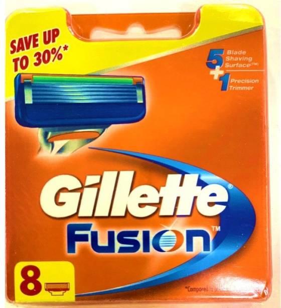 GILLETTE Fusion Manual Shaving Razor Cartridges - 8s Pack