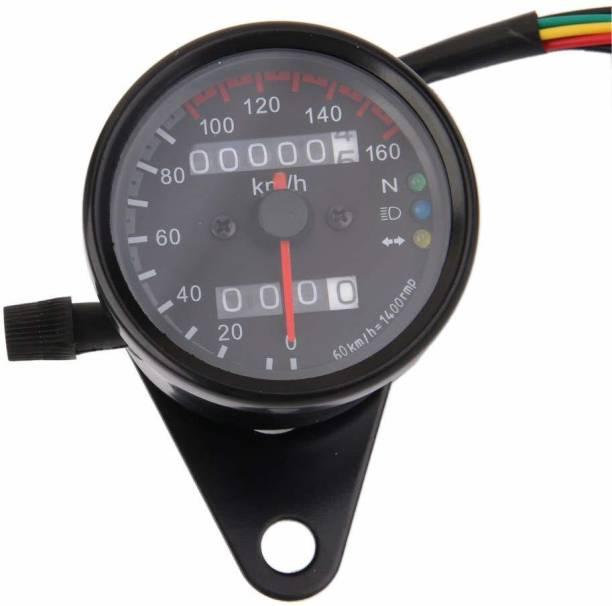 acube mart Dual Odometer Speedometer Gauge LED Background Light Analog Speedometer