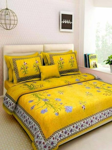 DIVIK CRAFTS Cotton Double Bed Cover