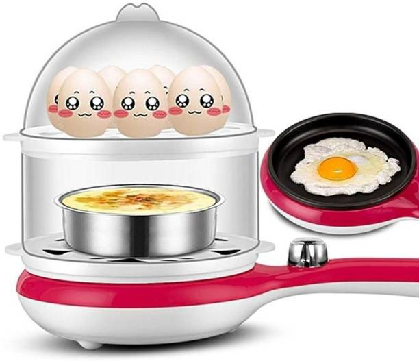 Milly Milly Double Layer Electric Non Stick Mini Egg Frying Pan Boiler Egg Cooker (Multi color, 14 Eggs) 2 In 1 Double Layer Electric Non Stick Mini Egg Egg Cooker