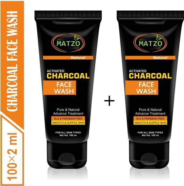 Matzo Natural Activated Charcoal -SLS Free Paraben Free Face Wash