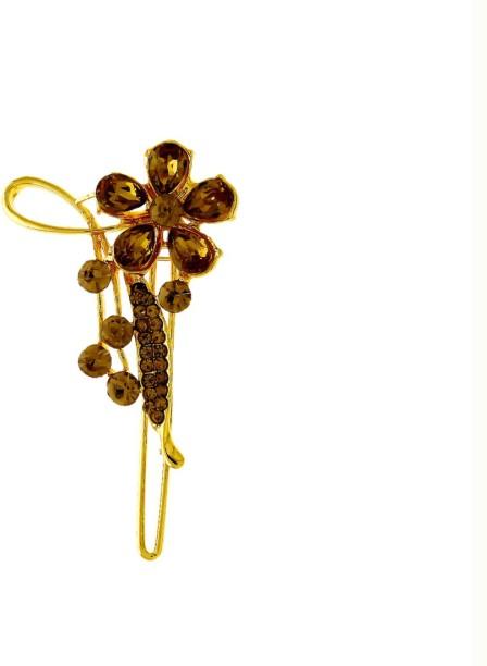 2Pcs Mini Gold Metal Hair Comb Clip For Doll RS