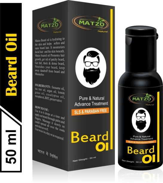 Matzo Beard Growth Oil Mineral Oil Free Paraben Free SLS Free Hair Oil