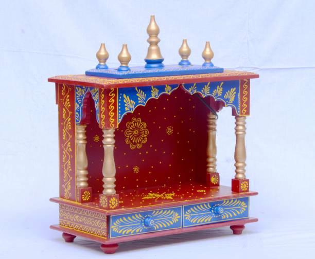 Marusthalee Home Temple Rajasthani Wooden Solid Wood Home Temple