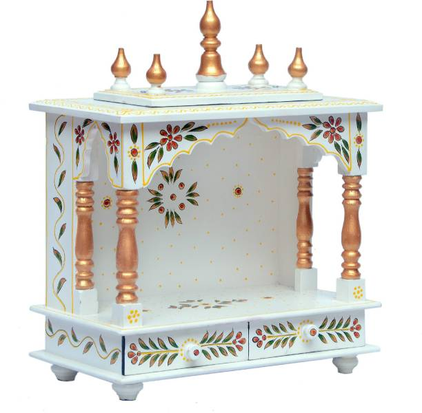 Marusthalee Designer Wooden Home Temple Solid Wood Home Temple