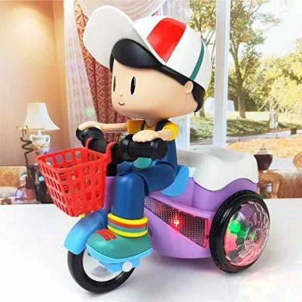 Kidz N Toys Stunt Tricycle Bump ,Dancing Toy, Battery Operated Toy