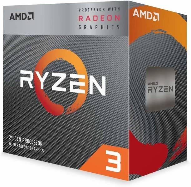 amd Ryzen 3 3200G with Radeon Vega 8 Graphics (YD3200C5FHBOX) 3.6 Ghz Upto 4 GHz AM4 Socket 4 Cores 4 Threads 2 MB L2 4 MB L3 Desktop Processor