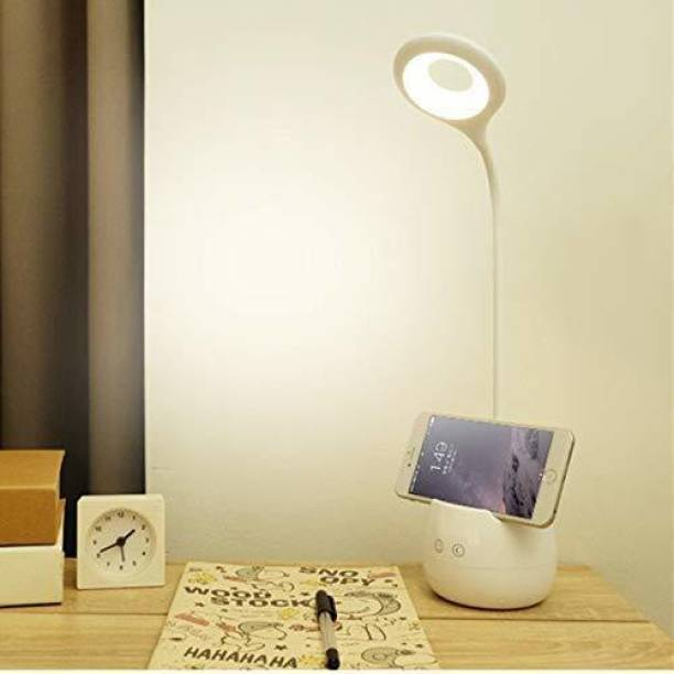 FIRSTLIKE Long Arm Study Desk Light with 3 Shades Touch Control Light Advanced Pen and Mobile Holder Design Table Lamp