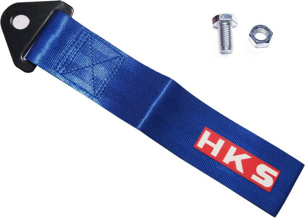 AutoRight HKS Tow Strap Universal Fit for Front or Rear Bumper (Blue) 0.2 m Towing Cable