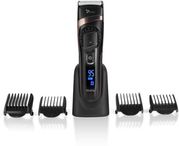 Syska HB 100 Ultra Clip Hair Clipper  Runtime: 90 min Trimmer for Men