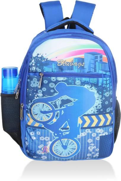 blubags Branded Digital Printed cycle Backpack for All Genders School l Collage l Travel Waterproof School Bag