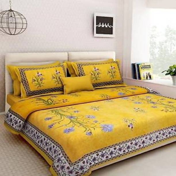 Home@shop 180 TC Cotton Double King Printed Bedsheet