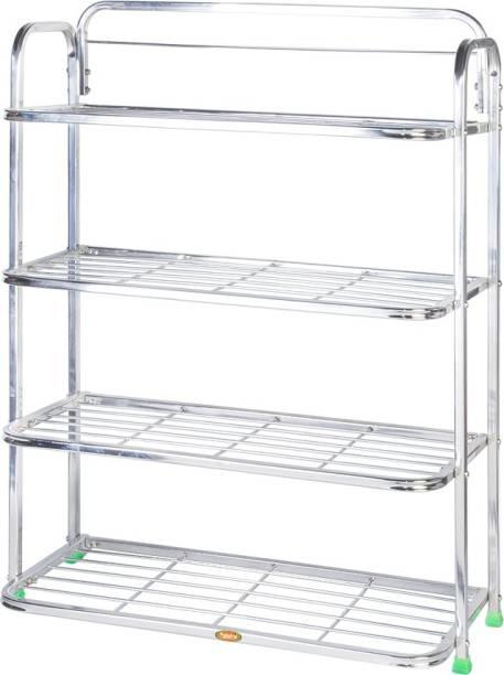 Patelraj Pure Stainless Steel Book Shelf No.4 Iron Wall Shelf