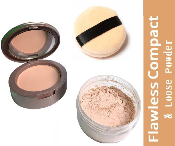 imelda PRO PREFERRED 2 IN 1 COMPACT CAKE & LOOSE POWDER FOR LASTING MAKEUP EFFECT Compact