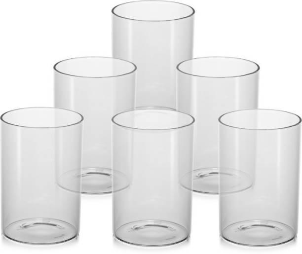 MSC (Pack of 6) Unbreakable Stylish Transparent Glass Set