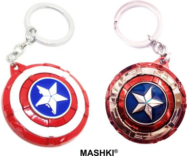 MASHKI MARVEL Avengers Endgame Captain America Shield (Set of 2) SPECIAL COMBO SHADE Key Chain