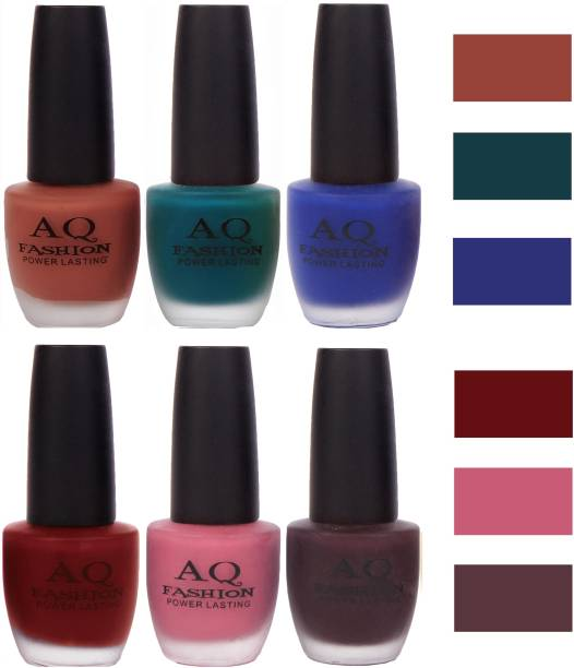 AQ FASHION Velvet Matte Nail Polish Combo Set 12083 Multicolor