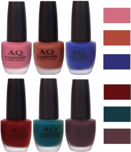 AQ FASHION Velvet Matte Nail Polish Combo Set 12087 Multicolor