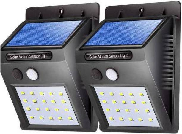 VYOMAN 20 LED Solar Motion Sensor lights for home garden waterproof Outdoor Light for Wall Landscape Shed Lawn security lamp Solar Light Set